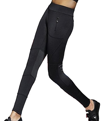 Bas Bleu Trinity Leggings Fitnesshose Damen 3/4 Gummiband Sport Fitness Lang Taschen Blickdicht Top Qualität EU, Schwarz,2/S/36