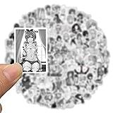 100pcs Anime Hentai Sexy Pinup Bunny Fille Waifu Stickers Valise Cartable Cartable Compagnie imperméable Sticker Guitare Noir Blanc Pour New Halloween Anime Girl Skateboard DIY Autocollant décor