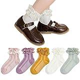 Baby Girl Socks 5 Pairs Toddler Ruffle Lace Socks Dress...