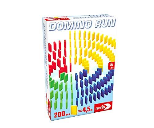 Noris 606065644 - Domino Run - Mit 200 Dominosteinen für einen atemberaubenden Parcour, ab 3 Jahren