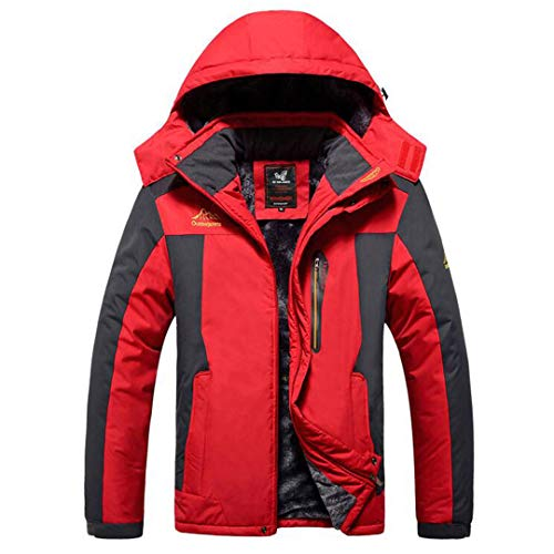 WEIYOUYO 6XL7XL 8XL 9XL Winterjacke Männer Dicke Winddichte Mäntel wasserdichte Fleece Jacken Mens Military Outwear Parka Mantel Red 9XL