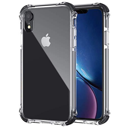 GPFILE Clear iPhone XR Case, iPhone XR Protective Case Cover Shockproof Case with Air Cushion Bumper for iPhone XR (6.1inch) 2018