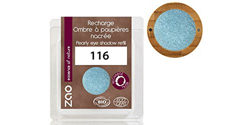 Zao - Nachfüllpackung - Perlmutt Eyeshadow - Nr. 116 / Blue Jeans