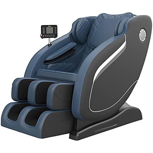 Real Relax Massage Chair, Thai Yoga Stretch 3D SL-Track Zero Gravity, Full Body Shiatsu Massage...