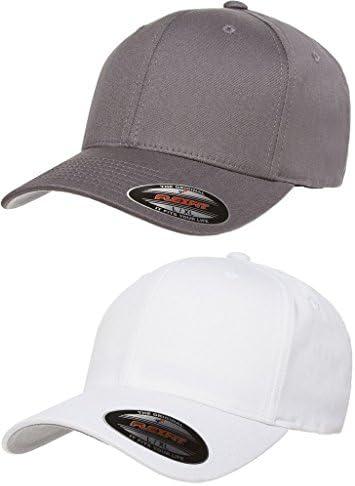 Flexfit 2 Pack Premium Original Cotton Twill Fitted Hat w THP No Sweat Headliner Bundle Pack product image