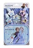 Markwins Frozen II Nail Polish & Pouch Set - Set Monedero y Kit de Uñas para Niñas - Set con 4 Colores de Esmalte de Uñas y Estuche con Cremallera Reutilizable