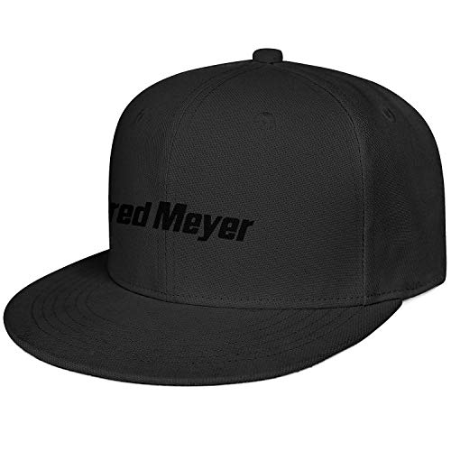 LHSPOSIFD Unisex Men Flat Hat Fashion Adjustable Sports Fred-Meyer-Logo-Black-Baseball Caps