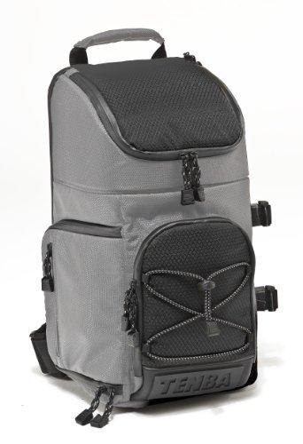 Tenba 632-642 - Piccola borsa-zaino convertibile per macchina fotografica, colore: Argento/Nero
