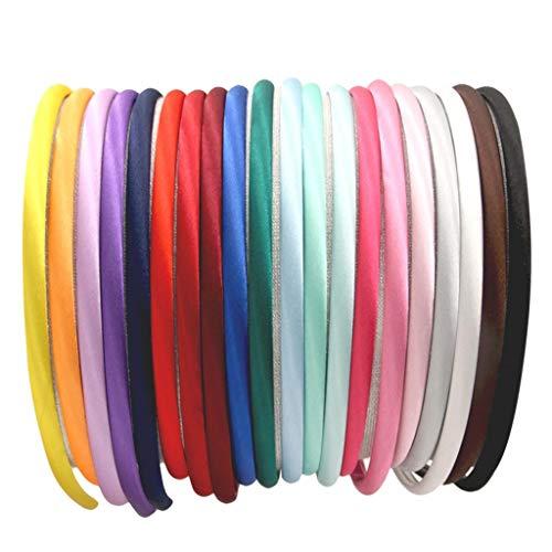 OKEYsoe 40 unidades de bandas de pelo para coletas, corbatas, corbatas, corbatas suaves y multicolores de satén, accesorios para el cabello, color multicolor
