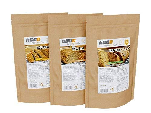 Panificadora con solo 0,8-1,4 g de hidratos de carbono por 100 g dieta hCG, 3 unidades de 250 g, brotzeit, soleado y mediterráneo