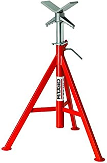Ridgid 56657 VJ-98 Roller Head Low Pipe Stand with 20-Inch-38-Inch Height Adjustment by North Coast Electric