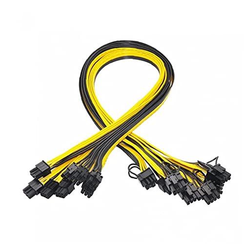 YepYes GPU Cable de alimentación de 6 Pines PCIe para 8Pin 6 + 2 Pines PCIe Macho a Macho Conectores de Cable Divisor 6PCS