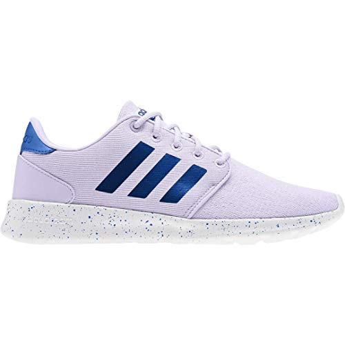 adidas Women's Cloudfoam Qt Racer Running Shoe, Purple Tint/Blue met./FTWR White, 8.5