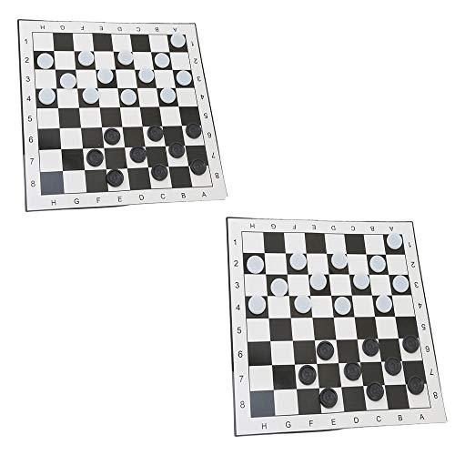 Juego de ajedrez Plegable de plástico Internacional de Damas de 2 Piezas, ajedrez portátil de Viaje, Exquisita diversión Duradera, para Fiestas, Actividades Familiares