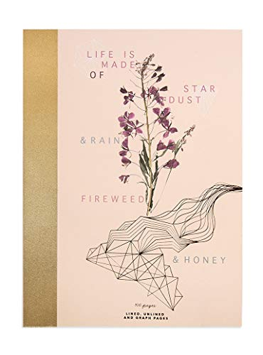 Fireweed: Cloth-Bound Notebook – Art Notebook, Illustrated Notebook – Journals to Write in for Home Office, Travel, Or School - Quality Sketchbook, Drawing Pad and Writing Journal (Fireweed and Honey)