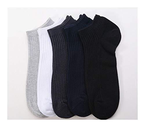 Clásico Transpirable Cómodo Calcetines de vestir 6 Par de hombres calcetines de algodón cómodo Casual Calcetines de corte bajo calcetines transpirables Liner cortos Calcetines for Running Walking depo