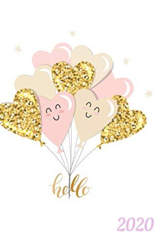 Garten Kalender 2020 Love Ballons: Aussatzeiten nach dem Mond als Tabelle enthalten, Taschenbuchformat, Buchkalender, Tagesplaner, Tag für Tag stündliche Aufteilung, Termine und Dankbarkeit für etc.