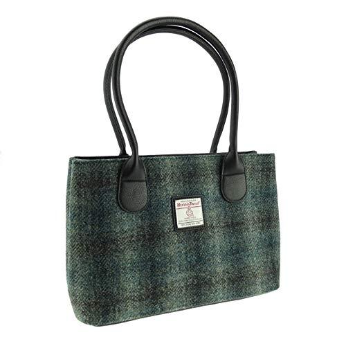 Damen Authentisch Schottische Harris Tweed Klassisch Handtasche in Zwei Farben Erhältlich LB1003 - Farbe 91, 25cm H x 38cm W x 11cm D