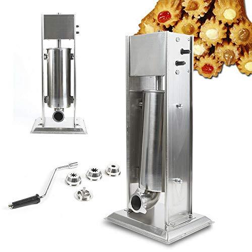 Manual 4 Nozzles Latin Fruit Machine, Commercial 5L Donut Churros Maker for Cake Room, Western Restaurant