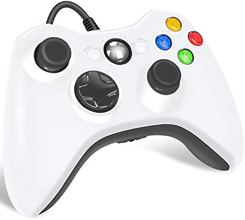 Xbox 360 Wired Controller for Microsoft Xbox 360 Game Controller with Dual Vibration Turbo for product image