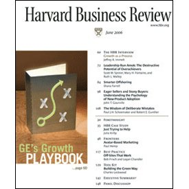 Harvard Business Review, June 2006 copertina
