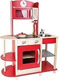 Small Foot 10327 Kinderküche Feinschmecker aus Holz mit umfassender Ausstattung, Rollenspielzeug für Kinder ab 3 Jahren Spielzeug