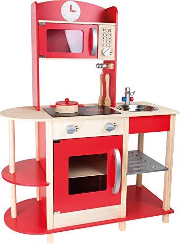 small foot 10427 Cuisine pour enfants Grand Gourmet en bois avec de nombreux accessoires, jeu de rôle pour enfants à partir de 3 ans