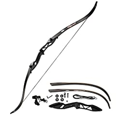 """[DACRON BOW STRING] Bow length: 56"""", bow limb length: 53"""", Max draw length: 30"""".Made of 12 strand Dacron strings which is durable ,flexible and powerful,well crafted and solid.Come with an English Instruction manual and bow stringer,easy to storage a..."""