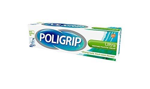 Poligrip Denture Fixative Cream Ultra Mint (40g) by Super Poli-Grip