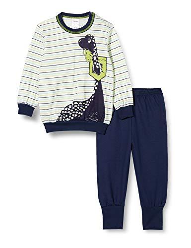 CALIDA Unisex Baby Toddlers Dino Pyjamaset, Peacoat Blue, 104
