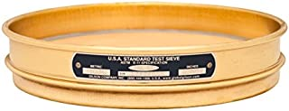 Gilson 8-Inch (203mm) ASTM E11 Test Sieve, All Brass, No. 45 (355µm) Opening Size, Half Height (V8BH #45)