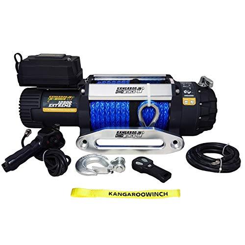 Elektrische Seilwinde Kangaroo Winch (früher PowerWinch) Extreeme 12500 12V 5670 kg Synthetik, Kunststoffseil 4x4 winde Off-Road Forst