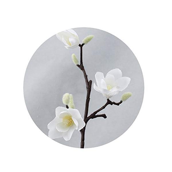 Sevem-D New Artificial Magnolia Silk Fake Flower Branch Fleur Flores Arrange Table Wedding Home Decor
