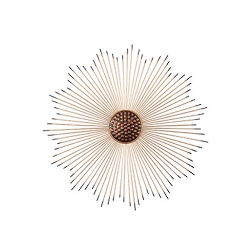 YUTRD Wrought Iron Gold Sun Flower Wall Hanging Decorative Restaurant Background Mural Crafts (Size : 80cm)