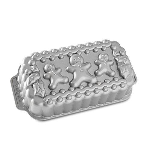 NordicWare 89848 Backform Familie Lebkuchen, Aluminiumguss, Silber, 27.94 x 14.605 x 6.35 cm