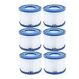 DHTENG Nuevo-6 Filtro de Piscina PCS, para Bestway SPA Filter Pump Cartucho Tipo de Cartucho Vi, Filtros de bañera de hidromasaje para Lay-Z-SPA, para filtros de Coleman Salpá (Color : Blue)