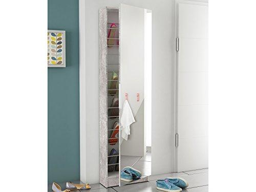 Schuhschrank Spiegeltür Schuhregal Schuhkommode Spiegelschuhschrank