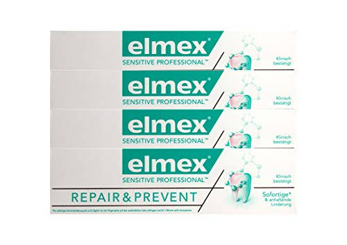 4x elmex SENSITIVE PROFESSIONAL REPAIR & PREVENT Zahnpasta 75ml Zahncreme