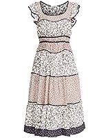 Ulla Johnson Women's Odelia Dress, Cream, Floral, 4