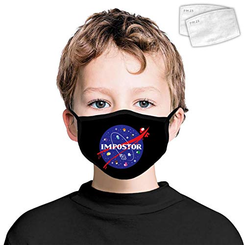 Kids Mouth Coverings with Filters Emergency-Meeting Boys Girls Windproof Breathable Earloop Face Protection