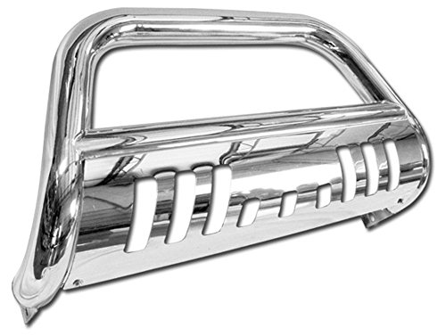 VXMOTOR for 2004-2015 Nissan Titan All Models; 2004/2005-2015 Nissan Armada All Models - Stainless Steel Front Bumper Bull Bar Guard (Chrome)