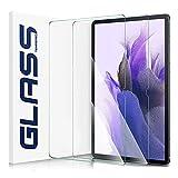 IVSO Panzerglas Kompatibel mit Samsung Galaxy Tab S7 FE 2021/S7 Plus 2020, 9H Festigkeit, 2.5D displayschutz, gehärtetes Bildschirmfolie Schutzglas für Samsung Tab S7 FE/S7+/S7 Plus 12,4 Zoll, (2 Stück)