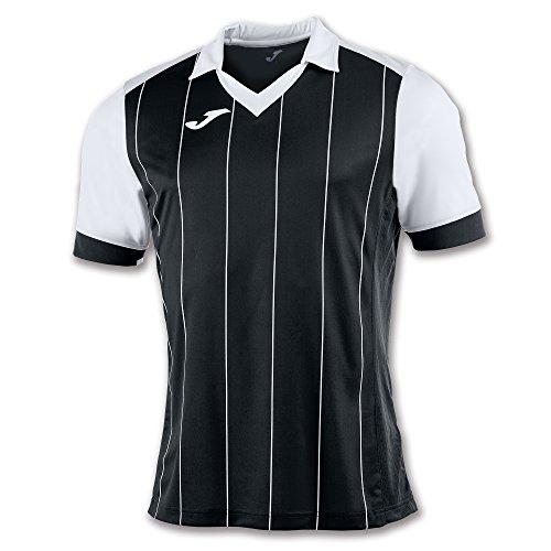 Joma Grada Camiseta de Manga Corta, Hombre, Multicolor (Negro/Blanco), XL