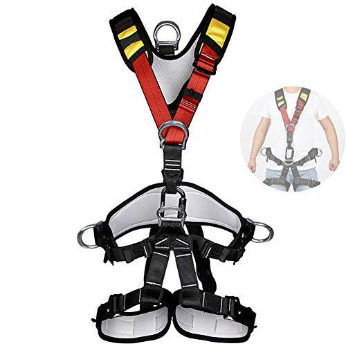 APOE Imbracatura Anticaduta Imbrago Arrampicata Cintura di Sicurezza Staccabile, per Uomo Donna...