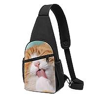ボディバッグ ワンショルダー 斜めがけバッグ 猫 猫柄 プリント ワンショルダーバッグ ボディーバッグ メンズ レディース 軽量 大容量 通勤通学旅行