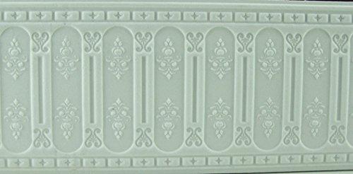 Unbekannt 35cm.(29,97EUR/Meter) 3D-Paneele für 1:12 Puppenhaus, weiß, 1:12. Karton.