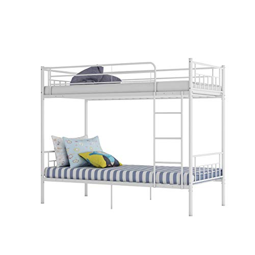 Panana 3FT Single Bunk Bed Metal Bed Frame Twin Sleeper available in White Black, Silver