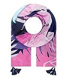 Majea Halstücher Damen Tuch Kopftuch Halstuch Schal Damen-Schal Tücher Damen Stola (blau 42)