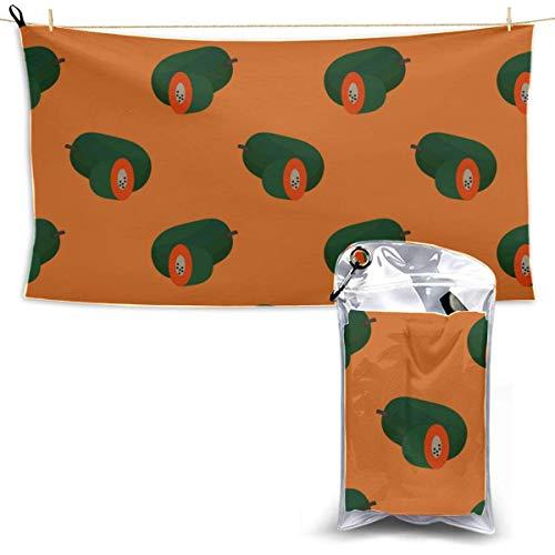Toallas Beach Towels Shower Towels Toalla de microfibra de secado rápido Moda Dulce lindo Crear Toallas de playa de fruta de papaya para niños Bathroom Towels 160X80CM