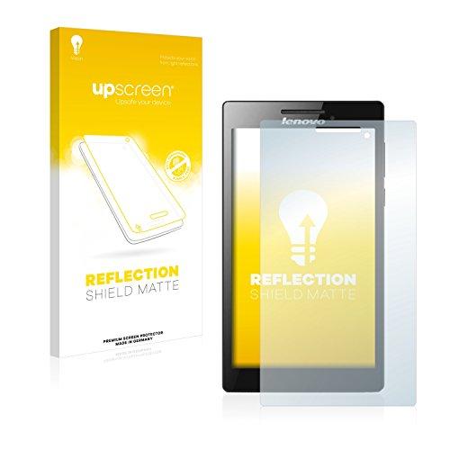 upscreen Entspiegelungs-Schutzfolie kompatibel mit Lenovo Tab 2 A7-30 (nur Kamera rechts) – Anti-Reflex Bildschirmschutz-Folie Matt